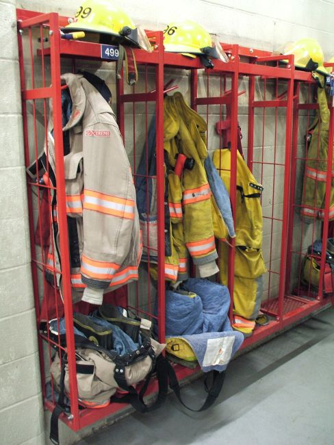 Custom Built Projects Fire Hall Lockers  Sunland Steel Works - Custom Welding  Manufacturing in Altona Southern Manitoba Steel Sales Custom Design Friendly Breaking and Bending Shearing and Cutting Machining Laser Cutting CNC Plasma and Water Jet Cutting Sheet Metal Forming and Rolling Pipe Bending and Rolling Painting Powder Coating and Galvanizing